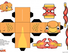 gimbee papercraft sheet